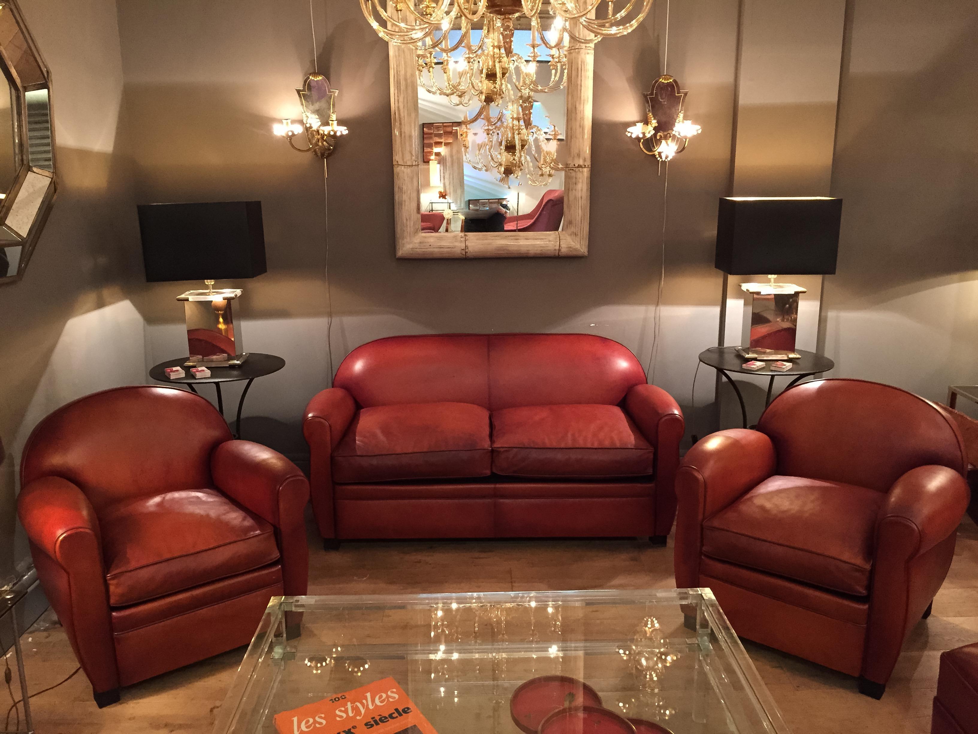 canap club cuir le billard canap cuir club confortable b jannin paris. Black Bedroom Furniture Sets. Home Design Ideas